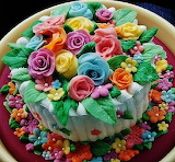 #Buttercream Birthday Cake with Bright Chocolate Flowers