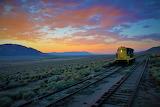 Train Nevada sunset