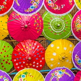 ☂️Colorful Paper Umbrellas...
