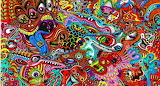 Abstract psychedelic art color