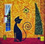 Christmas Retro Cat