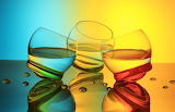 Glasses, colorful, abstract