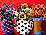 vases of flowers, Renie B.