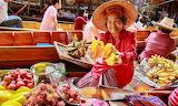 Thailand, Damnoen Saduak floating market