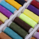 Colorful textile fabric embroidery thread