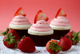 ^ Strawberry white chocolate cupcakes