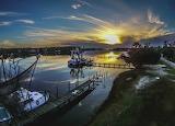 Boats Bon Secour River Sunset