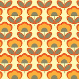 #Abstract Retro Flowers