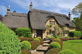 Thatched cottage and garden