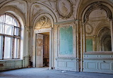 Interior room of abandoned castle