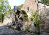 Scarthin pond mill wheel