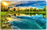 Пруд с прозрачной водой