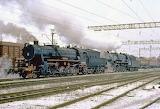 Ukrainian Railways #0314 & #5653 At Fastov, Ukraine - 1994
