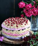 Colorful meringue cake