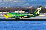 Portland Timbers Alaska Airlines Boeing 737 at Anchorage