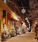 Snow, Christmas, snowflakes, path