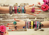 Bright rings and bracelets