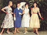 Fashion 50-ies of the twentieth century