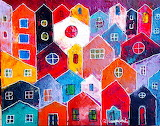 Colored houses-by Rudy Lacquaniti