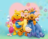 The love of Winnie and his friends