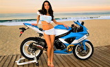 brunette girl with bike