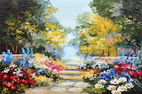 Colorful Summer Oil Art