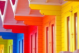 Colored-wooden-cabins