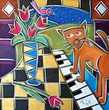 cat on a piano, E.Waugh