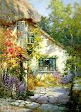 A Home in Devon by Alfred de Breanski