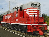 CB&Q 504. EMD SD24 locomotive.