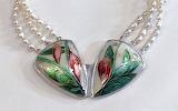 Robin Phillips pearl & enamel necklace