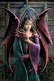 gothic-dragon and girl