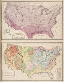 Climatological Map of the USA, 1876