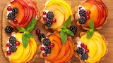 ^ Dessert, cake, apples, currants