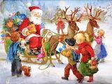 Colours-colorful-Vintage-Christmas-Santa-Painting