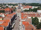 Widok na ulicę Długą z wieży Ratusza