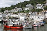 Boats in Polperro, Cornwall, UK