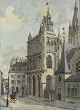 Aquarelle de Notre Dame de Dijon MS 1974