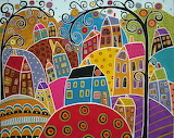 Houses and Swirl Trees - Karla Gerard
