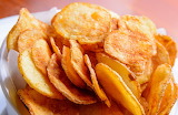 ^ Homemade potato chips