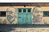 Street Art by Vhils. São Miguel Island Azores