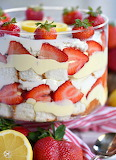 Trifle with strawberries angel food cake