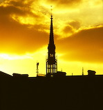 Europe - France - Paris - Notre Dame Spire - silhouette