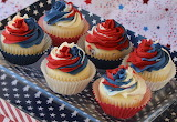 ^ Red White Blue Cupcakes
