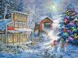 Christmas-illustration-painting-By-Nicky-Boehme