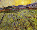 Enclosed Field With Rising Sun 1889 Van Gogh