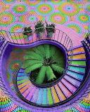 Rainbow Mosaic Stairs