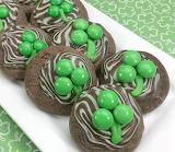 St. Patrick's mint swirl cookies