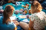 Girls, stay at home, hobbies, crochet work, balls of wool
