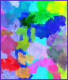 Colour Abstract Painting, Chunky Strokes